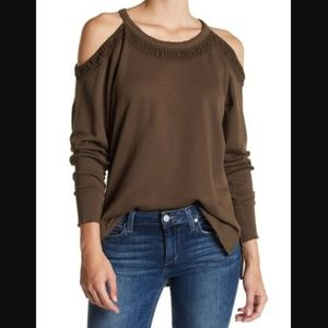 Joe's Jeans Olive Cold Shoulder Sweater